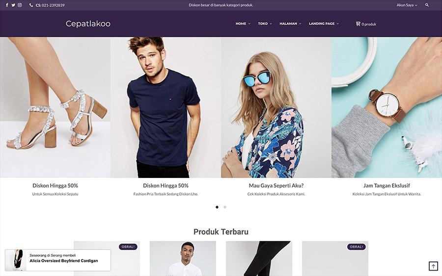 Buat toko online dengan Cepatlakoo