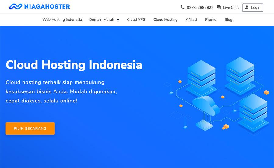 Niagahoster - Salah satu penyedia layanan cloud hosting di Indonesia