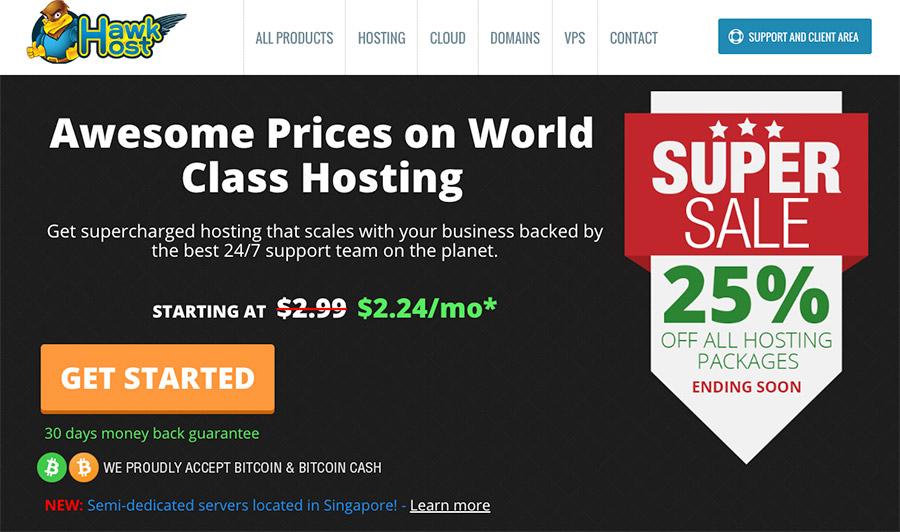 Hawkhost - Salah satu layanan hosting yang menyediakan paket shared hosting