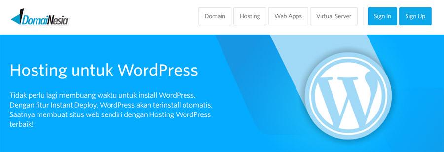 Domainesia - salah satu web hosting terbaik untuk WordPress