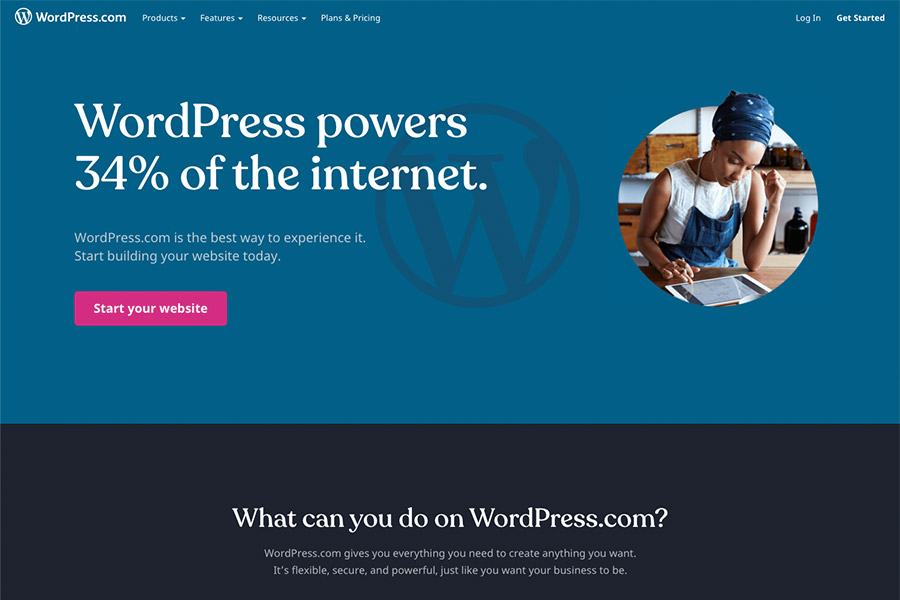 WordPress.com menyedia layanan membuat blog gratis
