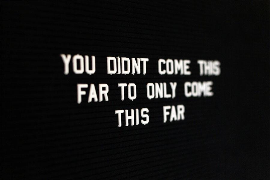 Motivasi penting, agar Anda tidak berhenti di tengah jalan