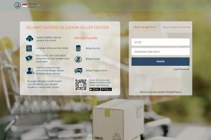 Halaman login Lazada seller center
